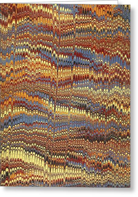 Brown Tapestries - Textiles Greeting Cards - Decorative end paper Greeting Card by English School