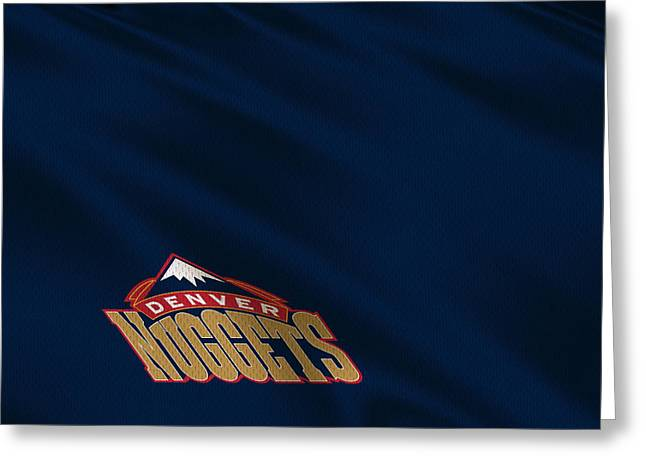 Denver Nuggets Greeting Cards - Denver Nuggets Uniform Greeting Card by Joe Hamilton