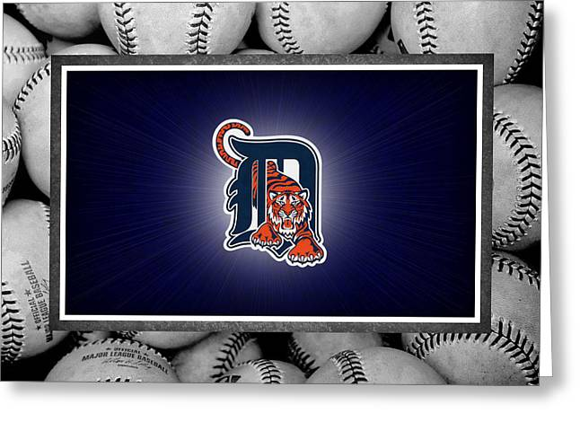 Baseball Field Greeting Cards - Detroit Tigers Greeting Card by Joe Hamilton