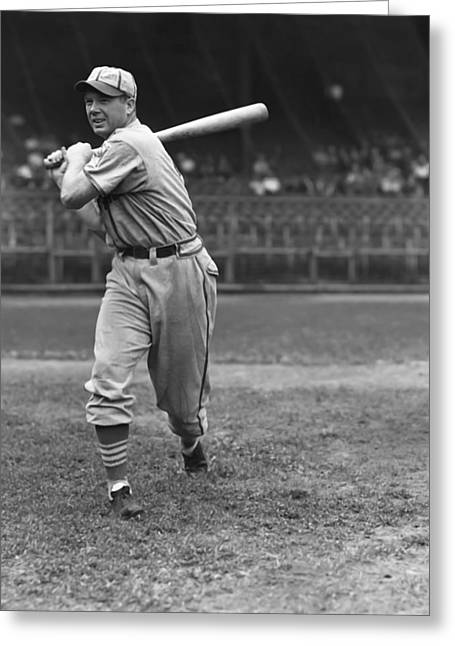 Baseball Bat Greeting Cards - Don W. Padgett Greeting Card by Retro Images Archive