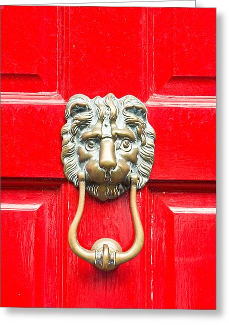 Knob Greeting Cards - Door knocker Greeting Card by Tom Gowanlock