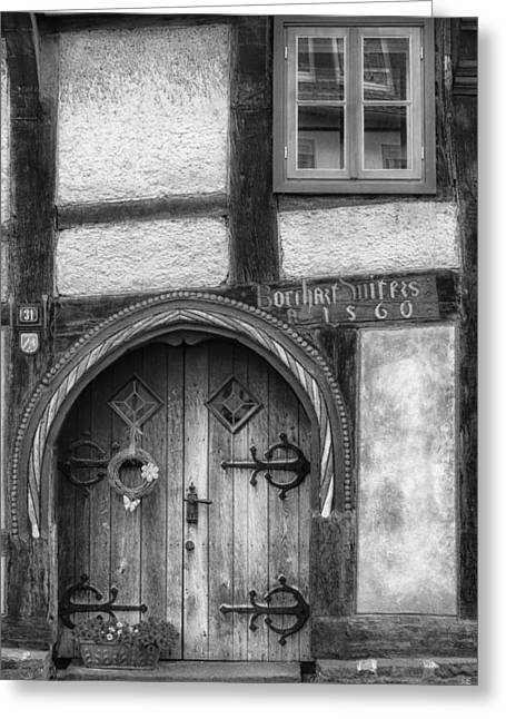 Wooden Building Greeting Cards - Doors of Germany Greeting Card by Mountain Dreams