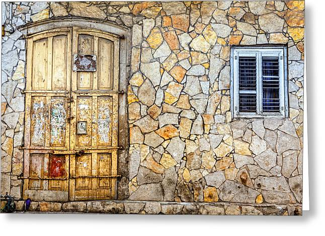 Stepping Stones Greeting Cards - Doors of Tel Aviv Greeting Card by Alexey Stiop