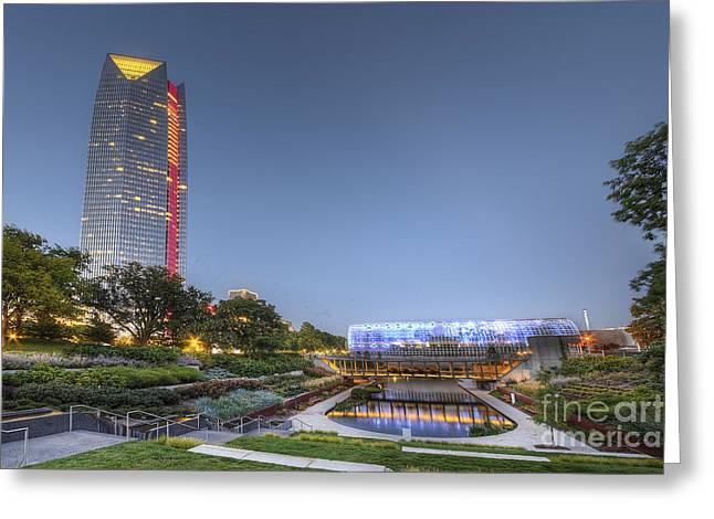 Downtown Oklahoma City Greeting Card by Twenty Two North Photography