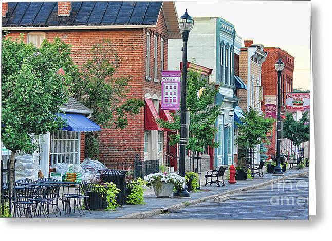 Hardware Greeting Cards - Downtown Waterville Greeting Card by Jack Schultz