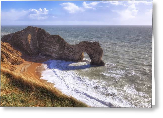 Dorset Greeting Cards - Durdle Door Greeting Card by Joana Kruse