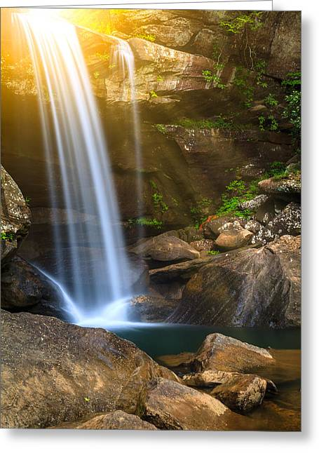 Pouring Greeting Cards - Eagle falls Greeting Card by Alexey Stiop