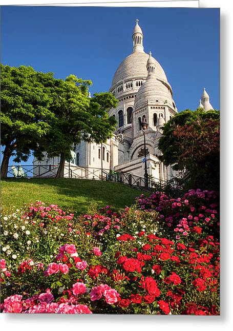 Early Morning Below Basilique Du Sacre Greeting Card by Brian Jannsen