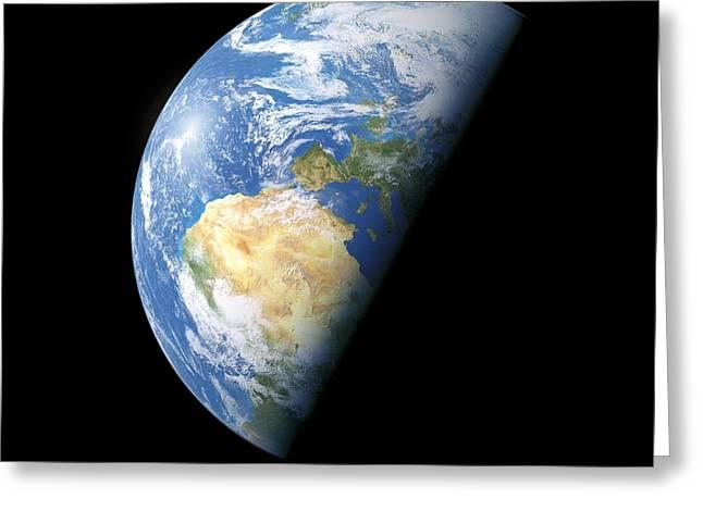 Science Greeting Cards - Earth, Artwork Greeting Card by Detlev van Ravenswaay