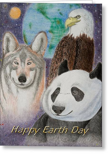 Planet Earth Pastels Greeting Cards - Earth Day Greeting Card by Jeanette K