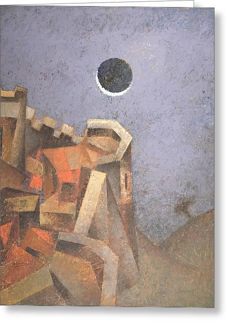 Eclipse Greeting Cards - Eclipse Greeting Card by Nicolay  Reznichenko