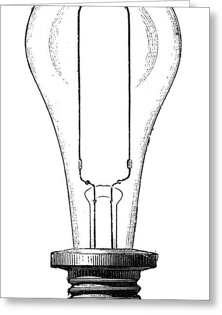 Edison Greeting Cards - EDISON LAMP, 19th CENTURY Greeting Card by Granger