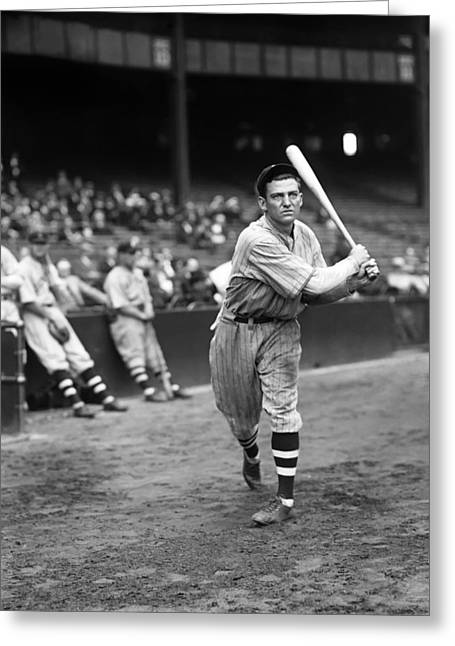 Baseball Bat Greeting Cards - Edward C. Ed Morgan Greeting Card by Retro Images Archive