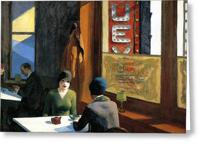 Chop Suey Greeting Card by Edward Hopper