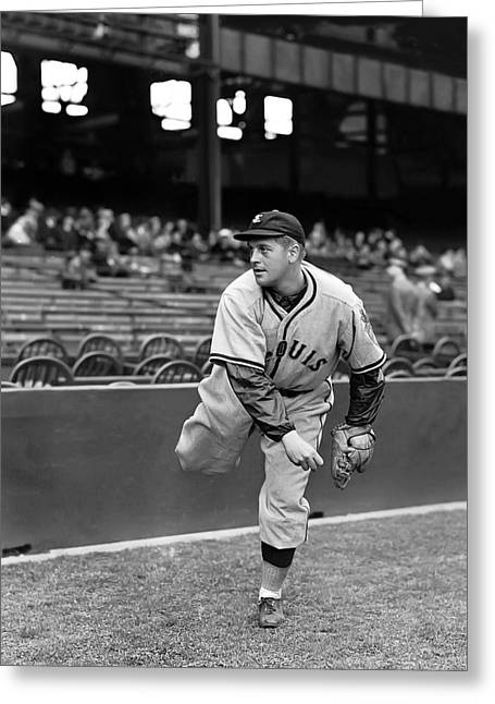 Pitcher Greeting Cards - Edward K. Ed Linke Greeting Card by Retro Images Archive