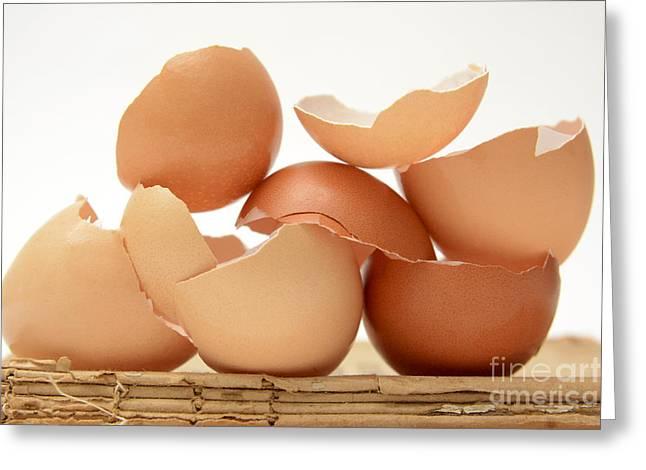 Eggshells Greeting Cards - Eggs Greeting Card by Bernard Jaubert