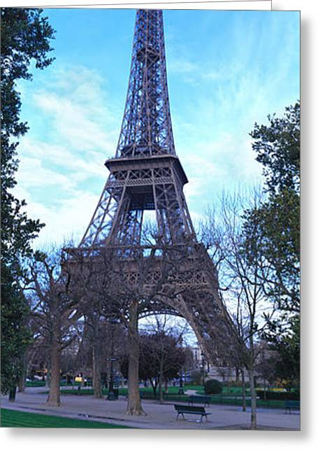 Gustave Photographs Greeting Cards - Eiffel Tower Paris France Greeting Card by Panoramic Images