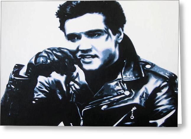Love Me Tender Greeting Cards - Elvis Greeting Card by Luis Ludzska