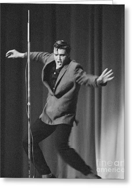 Elvis Presley 1956 Greeting Card by The Phillip Harrington Collection