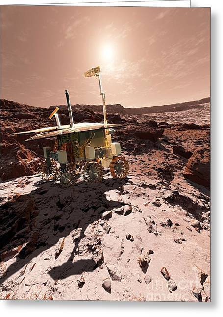 Initiative Greeting Cards - Exomars Rover, Artwork Greeting Card by Detlev van Ravenswaay