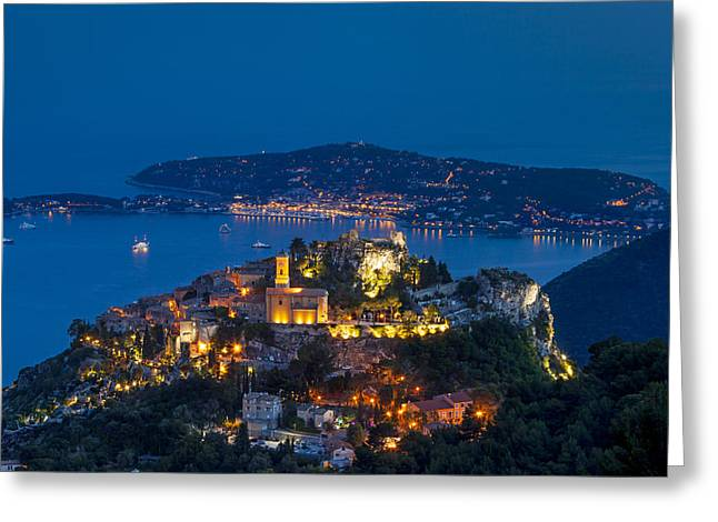 Alpes Greeting Cards - Eze France Greeting Card by Brian Jannsen