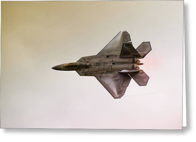 Air Plane Greeting Cards - F-22 Raptor Greeting Card by Sebastian Musial