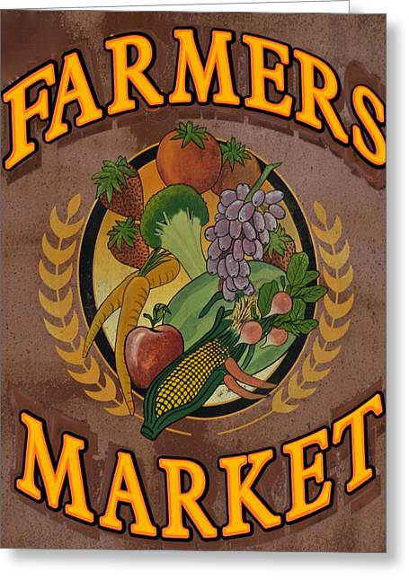 Peaches Corner Greeting Cards - Farmers Market Greeting Card by Frozen in Time Fine Art Photography