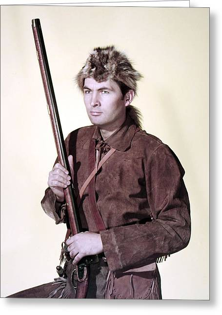 Daniel Greeting Cards - Fess Parker in Daniel Boone  Greeting Card by Silver Screen