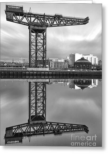 Glasgow Greeting Cards - Finnieston Crane Glasgow Greeting Card by John Farnan