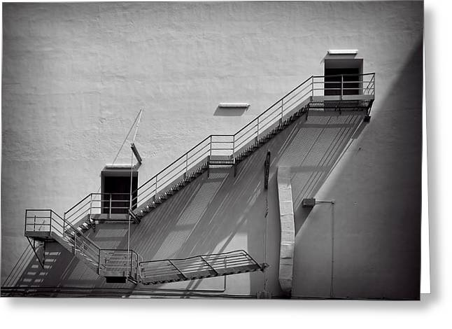 Stepping Stones Greeting Cards - Fire Escape Greeting Card by Rudy Umans