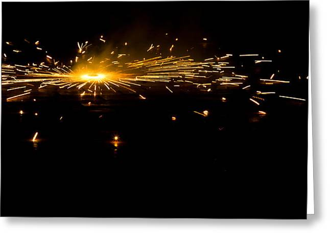 Fireworks Greeting Card by Akash Routh