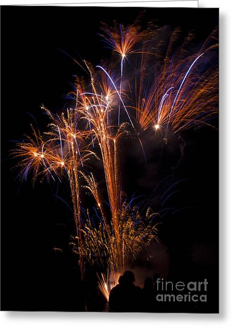 Fire Greeting Cards - Fireworks Greeting Card by Mandy Judson