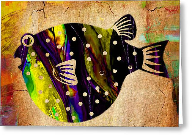 Sea Life Greeting Cards - Fish Painting Greeting Card by Marvin Blaine