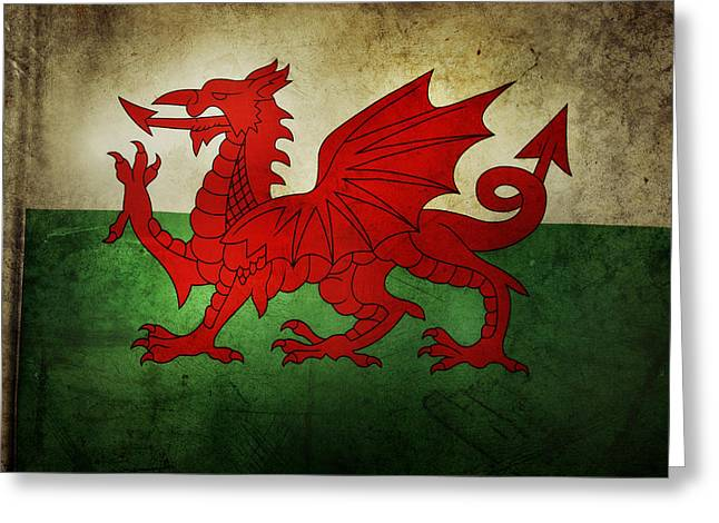 National Symbol Greeting Cards - Flag Greeting Card by Les Cunliffe