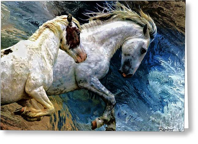 Western Digital Art Greeting Cards - Forever Wild Greeting Card by Robert Albrecht