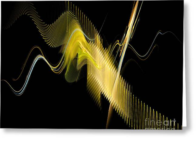 Roseann Caputo Greeting Cards - Fractal Music Greeting Card by Roseann Caputo