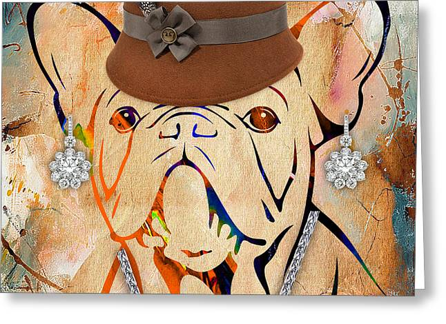 Pet Portrait Greeting Cards - French Bulldog Collection Greeting Card by Marvin Blaine