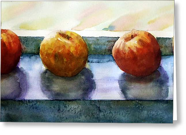 """""""indoor"""" Still Life Paintings Greeting Cards - 4 Friends Greeting Card by Marisa Gabetta"""