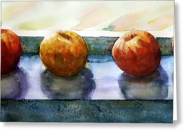 Indoor Still Life Paintings Greeting Cards - 4 Friends Greeting Card by Marisa Gabetta