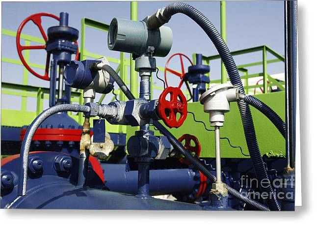 Pumping Station Greeting Cards - Gas Pipe Booster Station Greeting Card by RIA Novosti