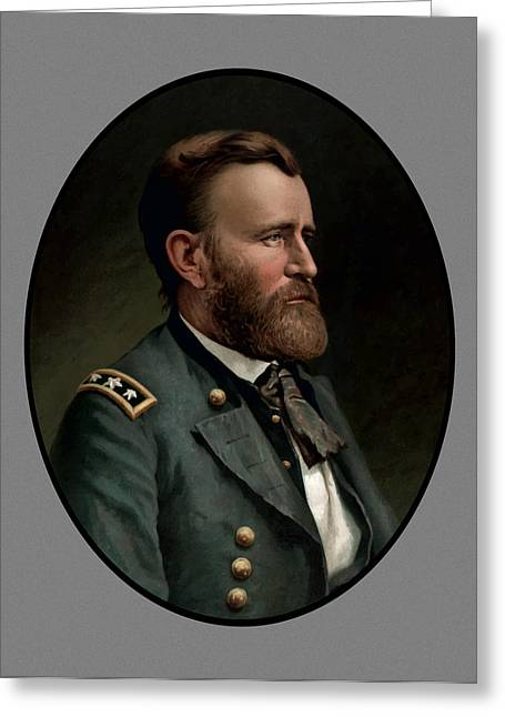 Warrior Greeting Cards - General Grant Greeting Card by War Is Hell Store