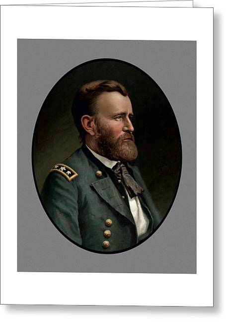 Products Greeting Cards - General Grant Greeting Card by War Is Hell Store