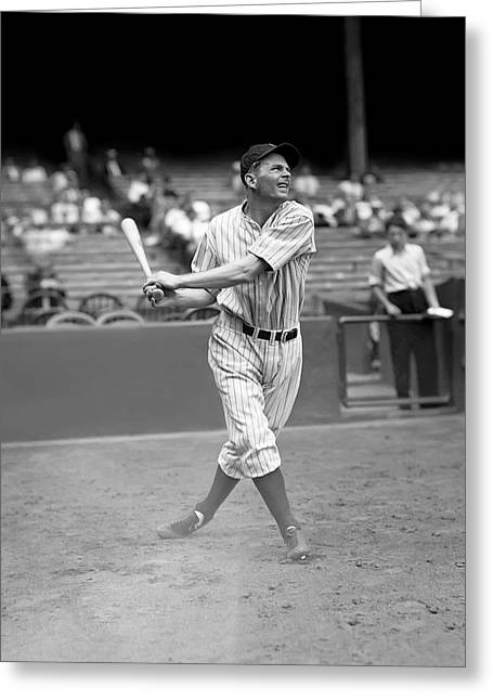 Baseball Stadiums Greeting Cards - George A. Selkirk Greeting Card by Retro Images Archive