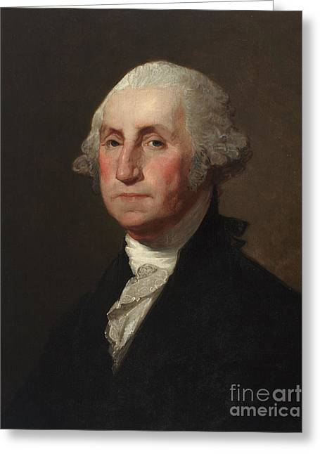 The Houses Greeting Cards - George Washington Greeting Card by Gilbert Stuart