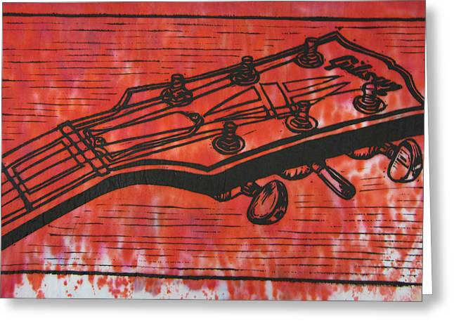 Lino Drawings Greeting Cards - Gibson Greeting Card by William Cauthern