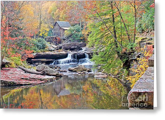 Grist Mill Greeting Cards - Glade Creek Grist Mill Greeting Card by Jack Schultz
