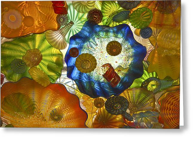 Glass Art.  Greeting Card by Gino Rigucci