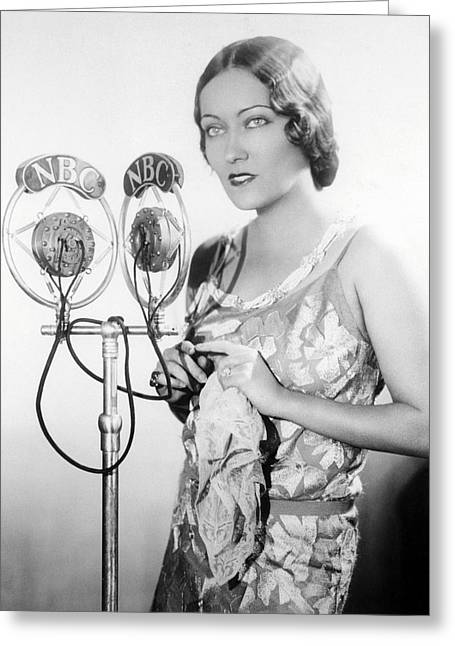 Gloria Swanson Greeting Card by Silver Screen