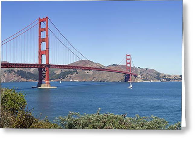 Infrastructure Greeting Cards - Golden Gate Bridge Greeting Card by Melanie Viola