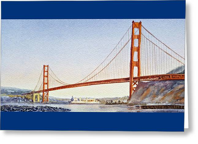 San Francisco Bay Bridge Greeting Cards - Golden Gate Bridge San Francisco Greeting Card by Irina Sztukowski